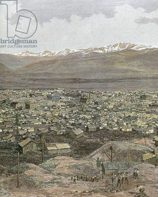 American West. Nineteenth century. Mining town of Leadville,.