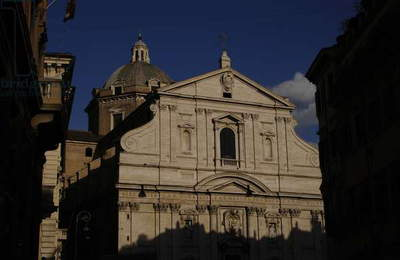 Italy. Rome. The Church of the Gesu. Mannerist. 16th century.