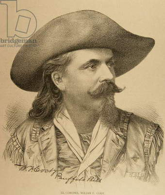 Buffalo Bill (1845-1917). Engraving.