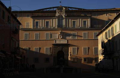 Italy. Castel Gandolfo. The Papal Palace or the Apostolic Palace. 17th century.