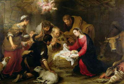 The Adoration of the Shepherds, c.1665-70 (oil on canvas)