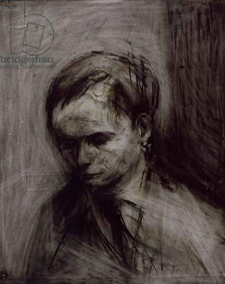 Portrait of Leon Kossoff, 1957 (charcoal & chalk on paper)