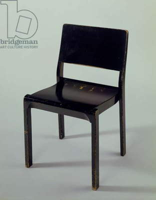 Stackable chair, 1929 (painted plywood)