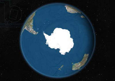 Earth Globe Showing Antarctica