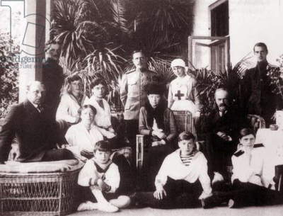 The Romanov family under house arrest in the Crimea