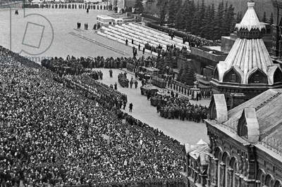 Funeral Of Yuri Gagarin And Vladimir Seryogin At Red Square