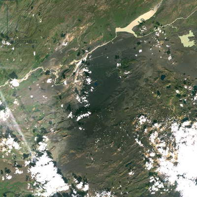 Hekla Volcano, Iceland, True Colour Satellite Image