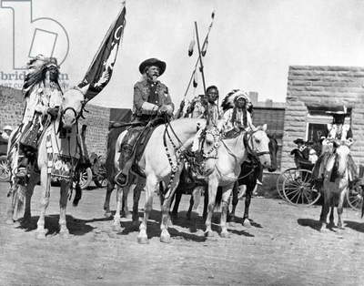 Buffalo Bill And Friends (b/w photo)