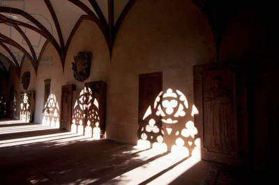 Shadows in the Corridor Along the Cloister in the Mainzer Dom (Mainz Cathedral Or St. Martin's Cathedral), Mainz, Germany (photo)