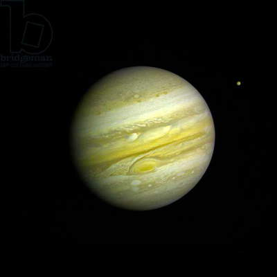 NASA Voyager 1 took this photo of Jupiter Feb 1, 1979 Jupiter and io, 1979