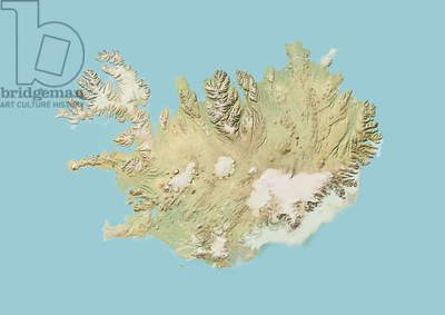 Iceland, Relief Map