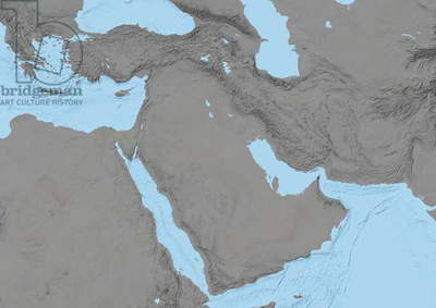 Middle East, Relief Map