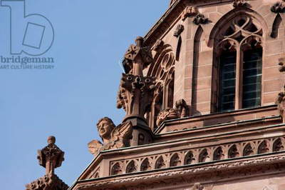 Ornaments on the Bell Tower of the Mainzer Dom (Mainz Cathedral Or St. Martin's Cathedral), Mainz, Germany (photo)