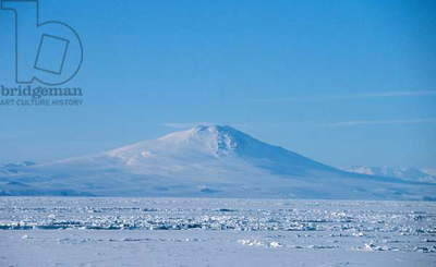 Photograph of Mount Melbourne, a Stratovolcano in Antarctica