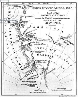 Map illustrating an Expedition of Captain Robert Falcon Scott