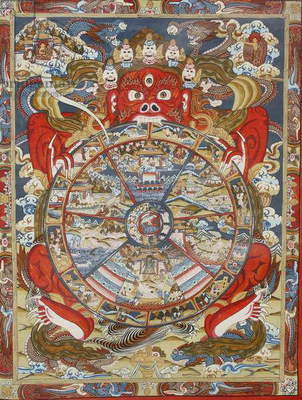 Wheel of life or wheel of Samsara (photo)