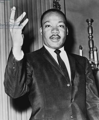 Rev. Martin Luther King, United States, 1964 (b/w photo)