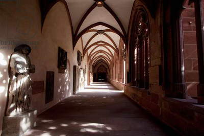 Passage Along the Cloister in the Mainzer Dom (Mainz Cathedral Or St. Martin's Cathedral), Mainz, Germany (photo)