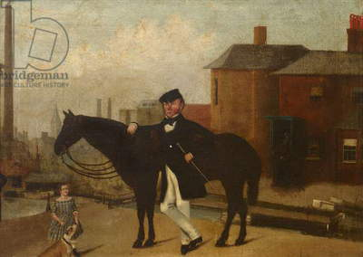 A Man with a Horse and a Boy, possibly John Glazebrook and his Son William Glazebrook