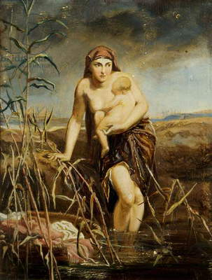 Moses with his Mother in the Bullrushes