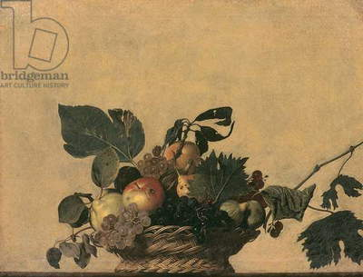Basket of Fruit by Michelangelo Merisi da Caravaggio, oil on canvas, 1594-1598