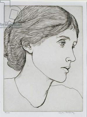 Portrait of Virginia Woolf (1882-1941) (engraving)
