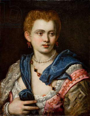 Portrait of a Lady (oil on canvas)