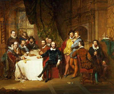Shakespeare and his Friends at the Mermaid Tavern, 1850 (oil on canvas)