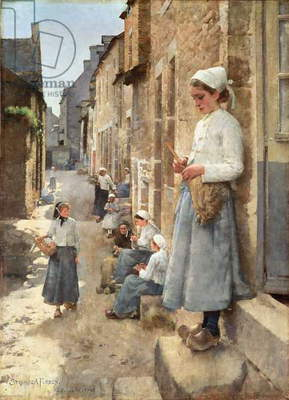 A Street in Brittany, 1881 (oil on canvas)