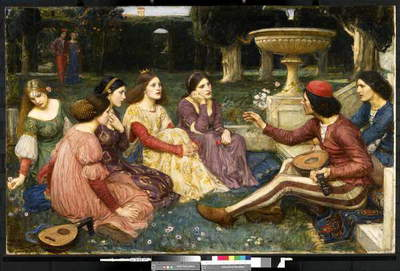 The Decameron, 1916 (oil on canvas)
