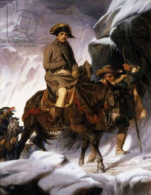 Napoleon Crossing the Alps, 1850 (oil on canvas)
