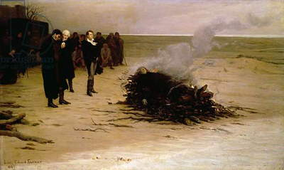 The Funeral of Shelley, 1889 (oil on canvas)