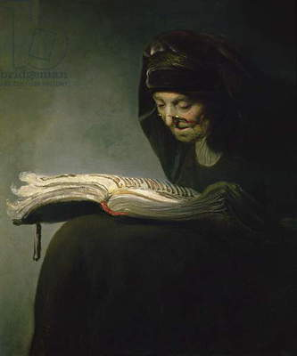 Portrait of Rembrandt's Mother (oil on canvas)