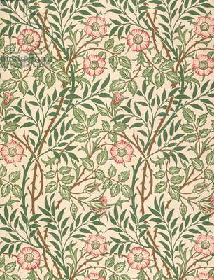 'Sweet Briar' design for wallpaper, printed by John Henry Dearle (1860-1932) 1917