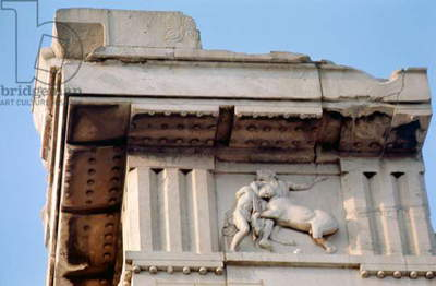 Detail of the Parthenon metope - fighting centaur