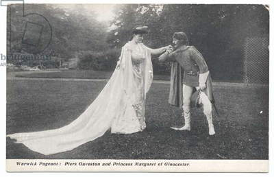 Warwick Pageant: Piers Gaveston and Princess Margaret of Gloucester, 1906 (b/w photo)
