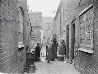 Hand & Bottle Yard, Atherstone, 1900s (b/w photo)