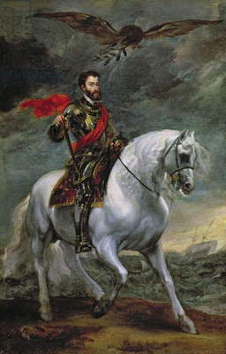 Emperor Charles V (1500-58) on Horseback, 1620 (oil on canvas)