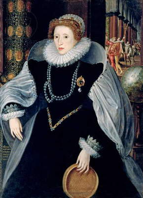 Portrait of Queen Elizabeth I (1533-1603) in Ceremonial Costume (oil on canvas)