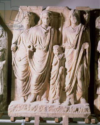 Frieze detail showing Emperors Hadrian (76-138), Marcus Aurelius (121-80) and Lucius Verus (86-161), from Ephesus (marble)