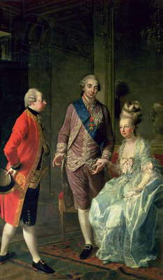 Archduke Maximilian Franz visiting Marie Antoinette (1755-93) and Louis XVI (1754-93) c.1775 (oil on canvas)