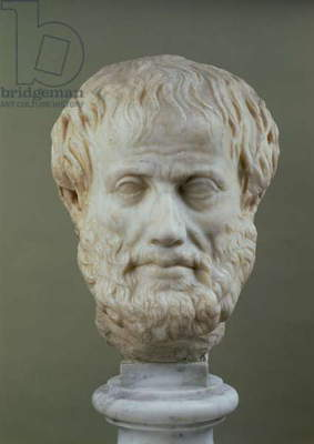 Marble head of Aristotle (384-322 B.C.)