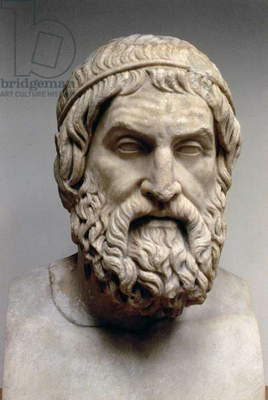 Portrait bust of Sophocles (c.496-05 BC) (marble)
