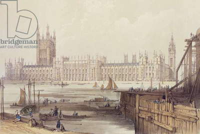 The New Houses of Parliament (litho)