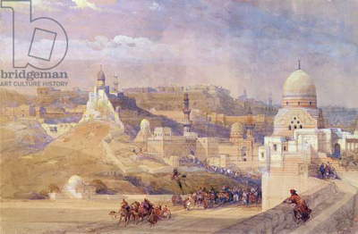 The Citadel of Cairo, Residence of Mehmet Ali, 1842-49 (colour litho)