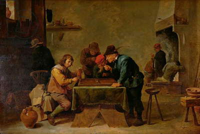 Backgammon Players, c.1640-45 (oil on wood)