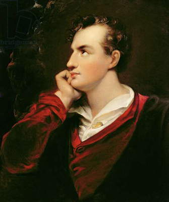 Portrait of George Gordon Byron (1788-1824) 6th Baron Byron, 1813 (oil on canvas)
