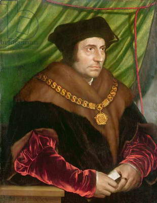 Portrait of Sir Thomas More (1478-1535) (oil on panel)