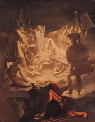 The Dream of Ossian, 1813 (oil on canvas)