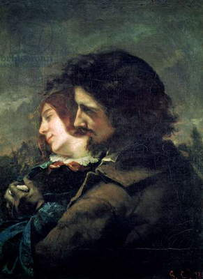 The Happy Lovers, 1844 (oil on canvas)